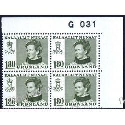 Grenlandia 1978 Mi 108 x4 ** Słania Królowa Małgorzata Malarstwo
