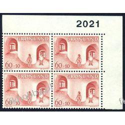 Grenlandia 1968 Mi 70 x4 ** Czesław Słania Dzieci Pozostałe