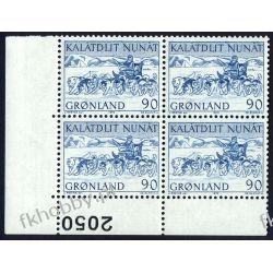 Grenlandia 1972 Mi 80 x4 ** Czesław Słania Pies a Druk wklęsły