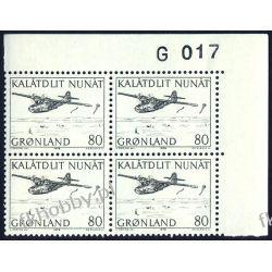 Grenlandia 1976 Mi 98 x4 ** Czesław Słania Samolot Flora