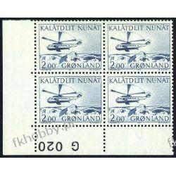 Grenlandia 1977 Mi 100 x4 ** Czesław Słania Helikopter Flora