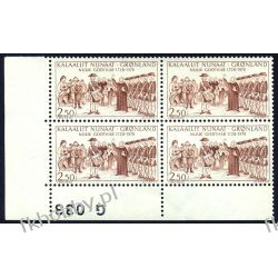 Grenlandia 1978 Mi 110 x4 ** Słania Wojsko Pozostałe
