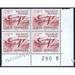 Grenlandia 1982 Mi 137 x4 ** Statek Ptaki Polonica