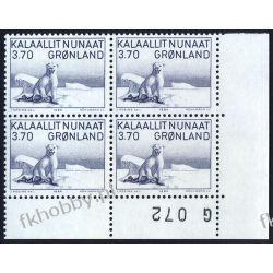 Grenlandia 1984 Mi 147 x4 ** Niedźwiedź Zwierzęta Malarstwo