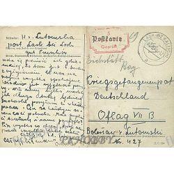 Poczta Obozowa Oflag VIIB Eichstatt 1940 Kriegsgefangenenpost k5  Militaria