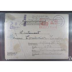 Poczta Obozowa Oflag XVIIA Edelbach do Oflag IIIC Lubben 1942 Militaria