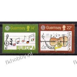 WB Guernsey 1985 Mi 322-23 ** Europa Cept Muzyka  Sport