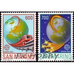 San Marino 1988 Mi 1380-81 ** Cept Kolej Lokomotywa Pociąg