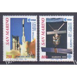 San Marino 1991 Mi 1465-66 ** Europa Cept Kosmos