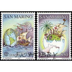 San Marino 1992 Mi 1508-09 ** Cept Kolumb Statek