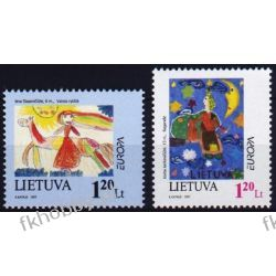 Litwa 1997 Mi 636-37 ** Europa Cept Dzieci  Pozostałe