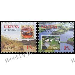 Litwa 1999 Mi 693-94 ** Europa Cept Natura Drzewa  Statki i okręty