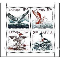 Łotwa 1992 Mi 340-43 ** Czesław Słania Ptaki