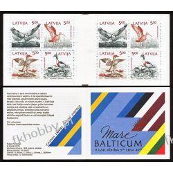 Łotwa 1992 Mi MH 1 ** Czesław Słania Ptaki Bałtyku Flora