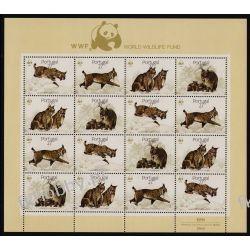 Portugalia 1988 Mi ark 1741-44 ** WWF Dzik Kot Ryś  Pozostałe