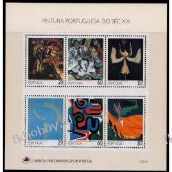 Portugalia 1989 Mi BL 68 ** Malarstwo Muzyka  Druk wklęsły
