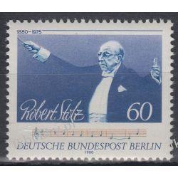 Berlin 1980 Mi 627 ** Robert Stolz Muzyka  Ptaki
