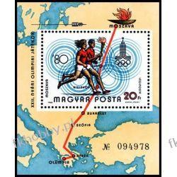 Węgry 1980 BL 142 A ** Olimpiada Moskwa  Polonica