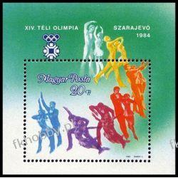 Węgry 1984 BL 169 ** Olimpiada Sarajewo San Marino