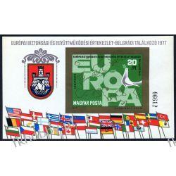 Węgry 1977 BL 126 B ** Europa Cept Polska Flaga Liechtenstein
