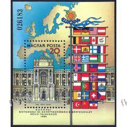 Węgry 1986 BL 187 ** Europa Cept Polska Flaga  Malarstwo