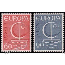 Norwegia 1966 Mi 547-48 ** Europa Cept Statek  Malarstwo