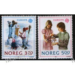 Norwegia 1989 Mi 1019-20 ** Europa Cept Dzieci Sport