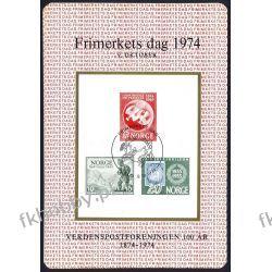 Norwegia 1974 BL Nowodruk UPU Ptaki Znaczek Góry San Marino