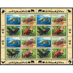 ONZ Wiedeń 1998 ark 248-51 ** Sowa Zółw Motyl Marynistyka