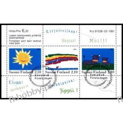 Finlandia 1991 BL 7 # Rysunki Dzieci Krowa San Marino