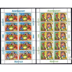 Azerbejdżan 1998 ar 438-39 ** Europa Cept Folklor  Flora