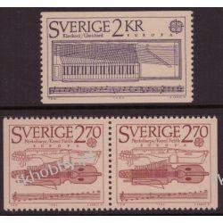 Szwecja 1985 Mi 1328-29 AD ** Europa Cept Muzyka