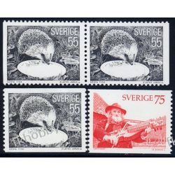 Szwecja 1975 Mi 923-24 ** Słania Muzyka Jeż