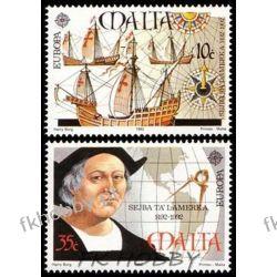 Malta 1992 Mi 885-86 ** Cept Statek Kolumb