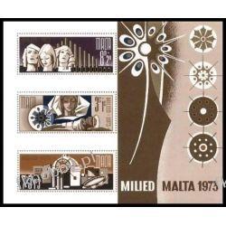 Malta 1973 Mi BL 3 ** Boże Narodzenie Religia Sport