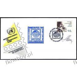 ONZ NY 1986 FDC 496 ** Czesław Słania Autograf !!!