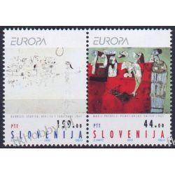 Słowenia 1993 Mi 48-49 zd ** Europa Cept Malarstwo a Polonica