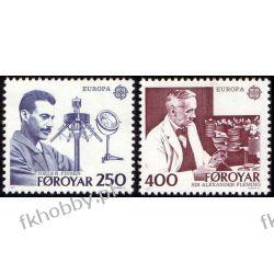 Wyspy Owcze 1983 Mi 84-85 ** Słania Cept Nobel Pozostałe