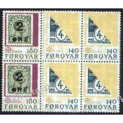 Wyspy Owcze 1979 Mi 43-44 x4 ** Słania Europa Cept Flora