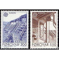 Wyspy Owcze 1987 Mi 149-50 ** Słania Europa Cept Polonica