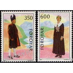 Wyspy Owcze 1989 Mi 182-83 ** Słania Cept Folklor Polonica