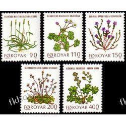 Wyspy Owcze 1980 Mi 48-52 ** Słania Kwiaty Flora Pozostałe