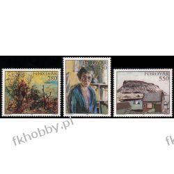 Wyspy Owcze 1985 Mi 118-20 ** Słania Malarstwo Malarstwo