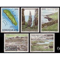Wyspy Owcze 1987 Mi 154-58 ** Słania Marynistyka Flora