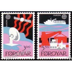 Wyspy Owcze 1988 Mi 166-67 ** Europa Cept Statek