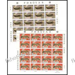 Wyspy Owcze 1989 Mi ark 184-85 ** Europa Cept Folklor Polskie