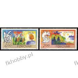 Wyspy Owcze 1995 Mi 278-79 ** Cept Bajki Legendy Malarstwo