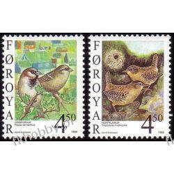 Wyspy Owcze 1999 Mi 352-53 ** Ptaki Pozostałe