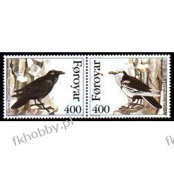 Wyspy Owcze 1995 Mi 283-84 ** Ptaki Wrona Ptaki