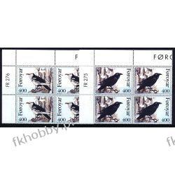 Wyspy Owcze 1995 Mi 283-84 x4 ** Ptaki Wrona Liechtenstein